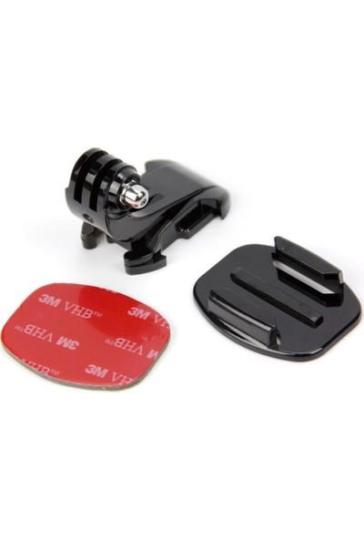 KingMa GoPro Uyumlu Düz Yüzey ve J-Hook Bağlantı Aparatı