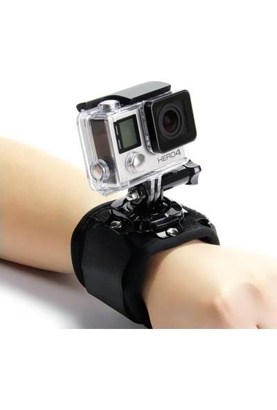 KingMa GoPro Uyumlu 360 Derece Dönebilen Bilek Kol Bağlantı Bandı