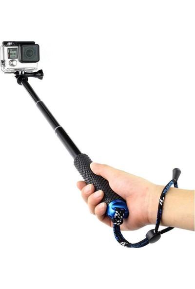 KingMa GoPro Uyumlu 3 Kademeli Suya Dayanıklı Monopod