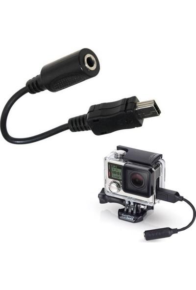KingMa GoPro Hero 3 3+ 4 Uyumlu Mikrofon Bağlantı Kablosu