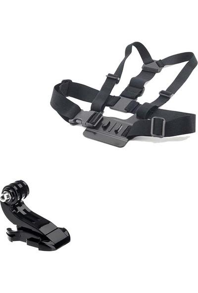 KingMa GoPro Uyumlu Göğüs Askısı ve J-Hook Bağlantı Aparatı