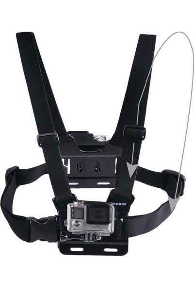 KingMa GoPro Uyumlu Ön ve Arka Tutuculu Göğüs Bağlantı Askısı