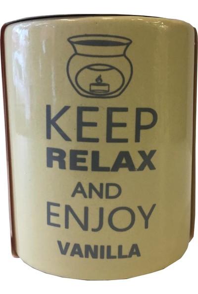 Esterya Plus Defne Sabunu Keep Calm Buhurdanlık Vanilya - Vanilla Oil Burner Gift Set