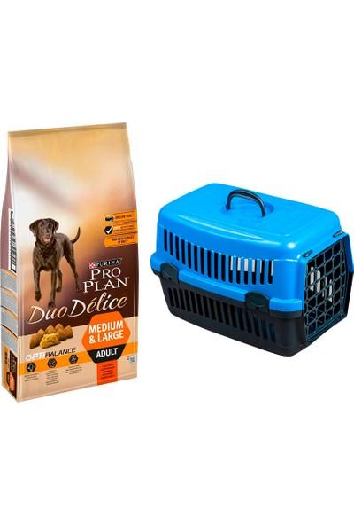 Pro Plan Dog Duo Delice Adult Sığır Etli Beef & Rice 2,5 kg Köpek Maması + Pet Style Taşıma Çantası 49 cm Mavi