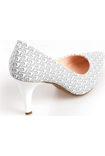 Pierre Cardin 54095 Kadın Klasik Ayakkabı Beyaz