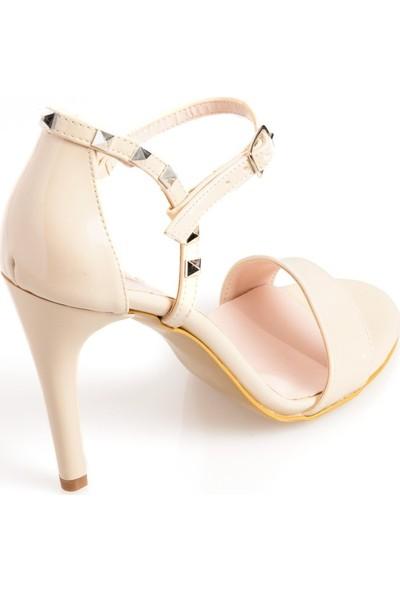 Pierre Cardin 54000 Kadın Abiye Ayakkabı Bej