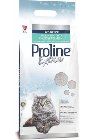 Proline Extra Sodium Bentonite Gri Bentonit Topaklaşan Kedi Kumu 10 l