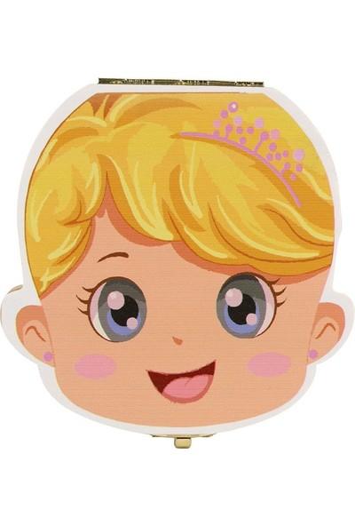 Momz Kız Bebek Diş Albümü - Saklama Kutusu - Ahşap Diş Albümü