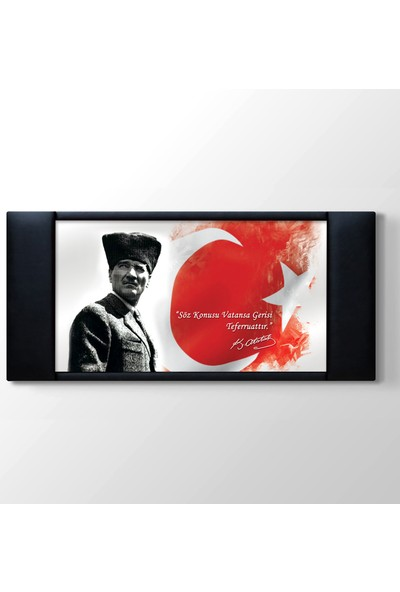 Areksan Reklam Atatürk Resimli Kanvas Tablo