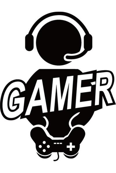 Areksan Reklam Gamer Konsol Duvar Sticker 60 cm
