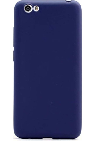Aktif Aksesuar Vestel Venüs E3 Kılıf Tam Esnek Mat Slim Silikon Kapak Ren Mavi
