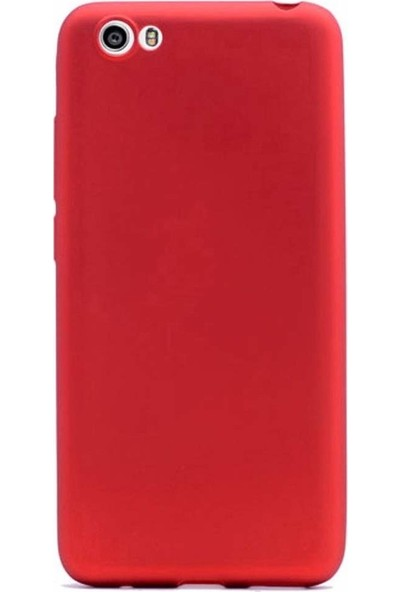 Aktif Aksesuar Vestel Venüs E3 Kılıf Tam Esnek Mat Slim Silikon Kapak Ren Kırmızı