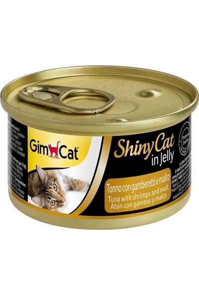 Gimcat Shinycat 24'Lü Tuna Balıklı Karidesli Malt Kedi Konserve 70 Gr