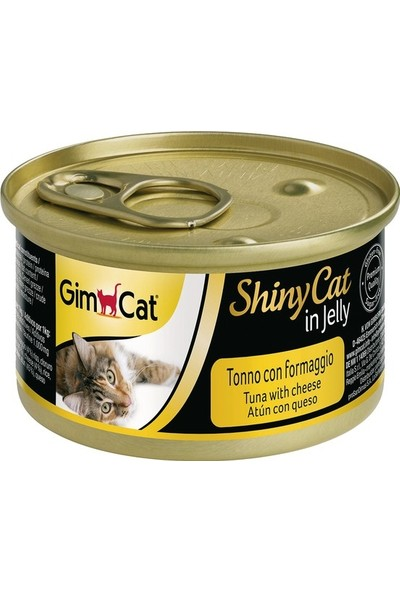 Gimcat Shinycat 24'Lü Tuna Balıklı Peynirli Kedi Konserve 70 Gr