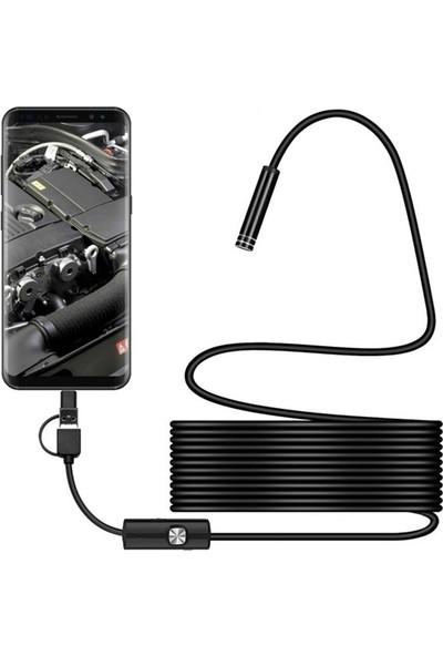 Gringo Endoskop Boroskop Yılan Kamera Android Cihaz Uyumlu 2 M Su Geçirmez