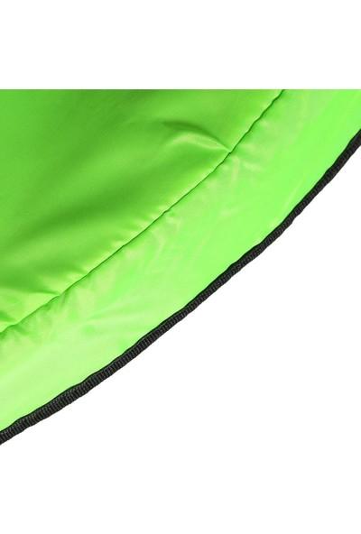 Leyaton Fileli Korumalı 140 cm Trampolin (55 Inç Trambolin) Yeşil
