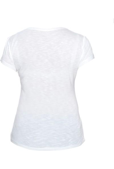 Fit21 Beyaz Basic T-Shirt Fit Bride
