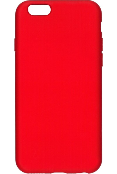 MAKT Apple iPhone 6 / 6S Soft Touch Silikon Kılıf Arka Kapak Kırmızı