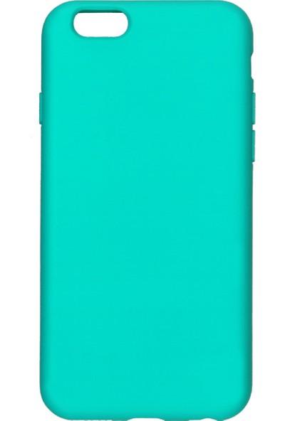 MAKT Apple iPhone 6 / 6S Soft Touch Silikon Kılıf Arka Kapak Turkuaz