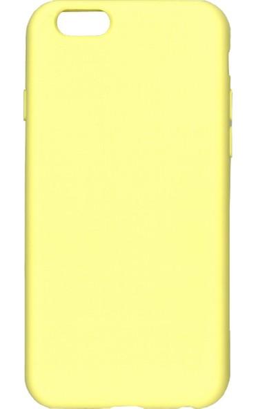 MAKT Apple iPhone 6 / 6S Soft Touch Silikon Kılıf Arka Kapak Sarı