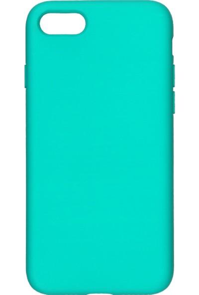 MAKT Apple iPhone 7 / 8 Soft Touch Silikon Kılıf Arka Kapak Turkuaz
