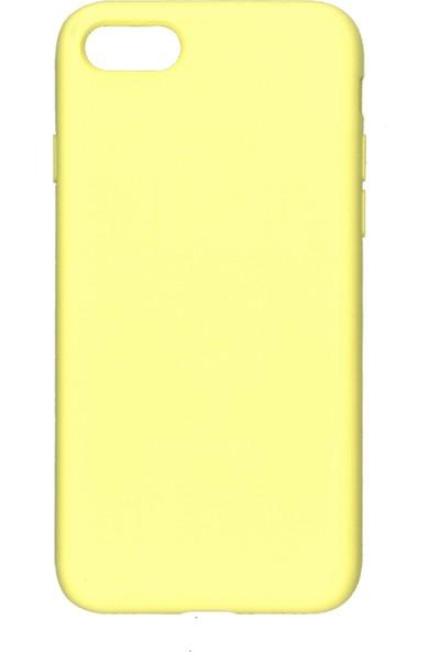 MAKT Apple iPhone 7 / 8 Soft Touch Silikon Kılıf Arka Kapak Sarı