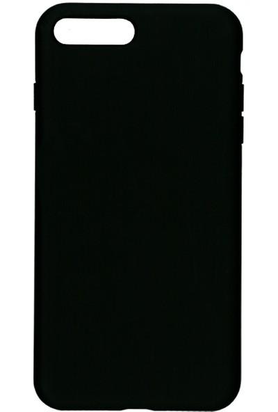 MAKT Apple iPhone 7 Plus / 8 Plus Soft Touch Silikon Kılıf Arka Kapak Siyah