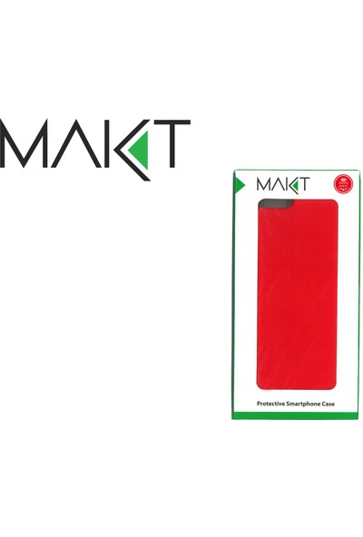 MAKT Apple iPhone 7 Plus / 8 Plus Soft Touch Silikon Kılıf Arka Kapak Kırmızı