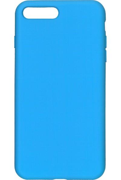 MAKT Apple iPhone 7 Plus / 8 Plus Soft Touch Silikon Kılıf Arka Kapak Mavi