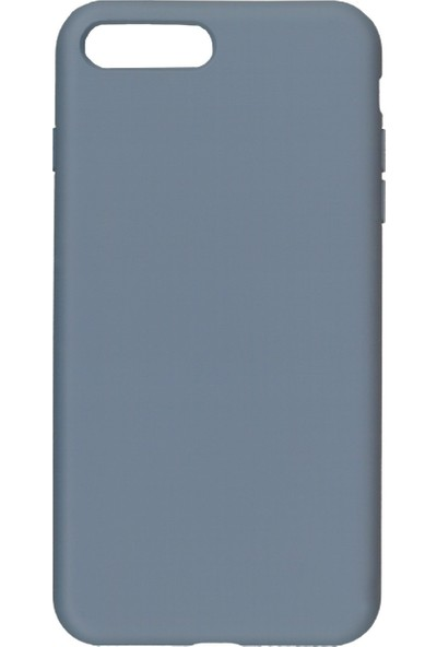 MAKT Apple iPhone 7 Plus / 8 Plus Soft Touch Silikon Kılıf Arka Kapak Gri