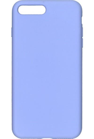 MAKT Apple iPhone 7 Plus / 8 Plus Soft Touch Silikon Kılıf Arka Kapak Lila