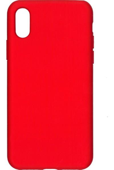 MAKT Apple iPhone X - XS Soft Touch Silikon Kılıf Arka Kapak Kırmızı