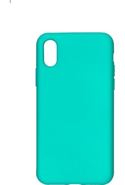 MAKT Apple iPhone X - XS Soft Touch Silikon Kılıf Arka Kapak Turkuaz