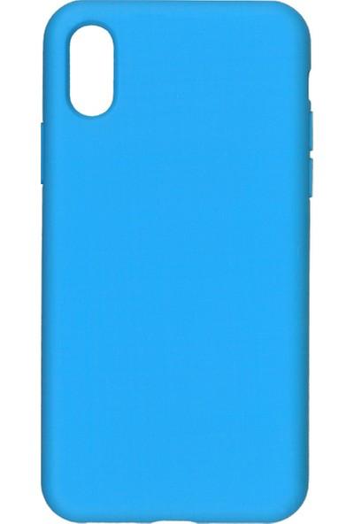 MAKT Apple iPhone X - XS Soft Touch Silikon Kılıf Arka Kapak Mavi