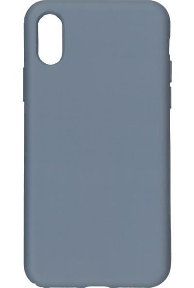 MAKT Apple iPhone X - XS Soft Touch Silikon Kılıf Arka Kapak Gri