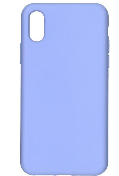 MAKT Apple iPhone X - XS Soft Touch Silikon Kılıf Arka Kapak Lila