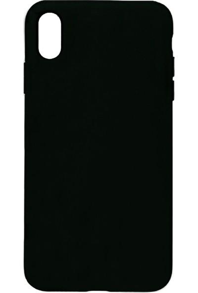 MAKT Apple iPhone XS MAX Soft Touch Silikon Kılıf Arka Kapak Siyah