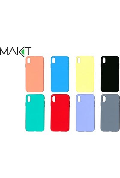 MAKT Apple iPhone XS MAX Soft Touch Silikon Kılıf Arka Kapak Mavi