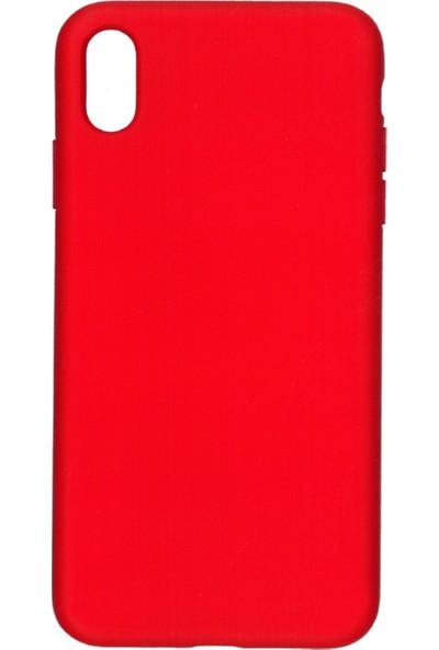 MAKT Apple iPhone XS MAX Soft Touch Silikon Kılıf Arka Kapak Kırmızı
