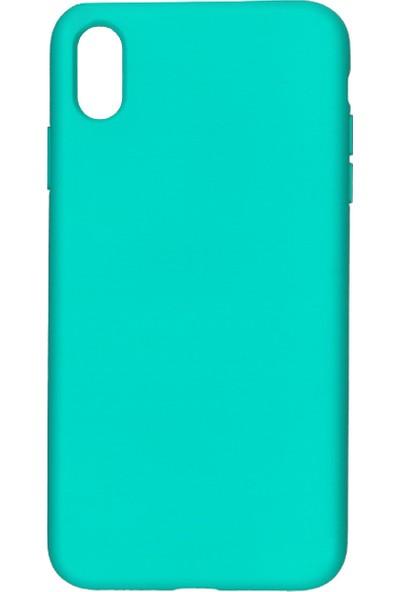 MAKT Apple iPhone XS MAX Soft Touch Silikon Kılıf Arka Kapak Turkuaz