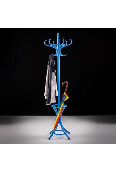 Adore Handy Mate Dorya Klasik 12li Ahşap Askılık - Mavi