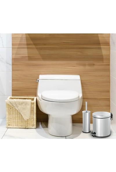 Aksesuaros Banyo Seti 3 lt Çöp Kovası ve Tuvalet Fırçası