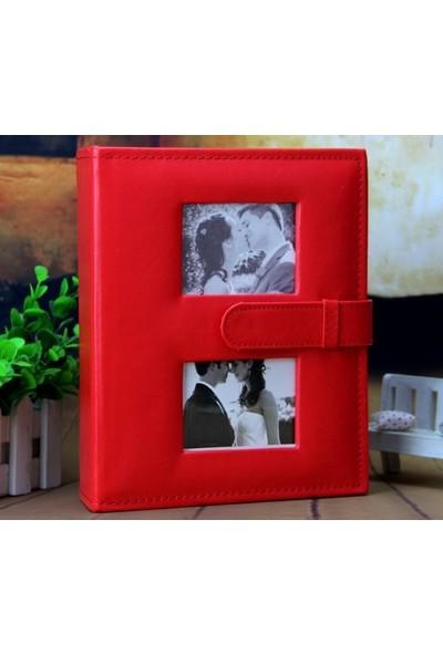 Fz Fotoğraf Albümü Deri Kırmızı 15 x 21 100 lük