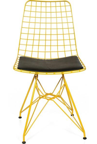 Akın Lüx Sarı Sandalye