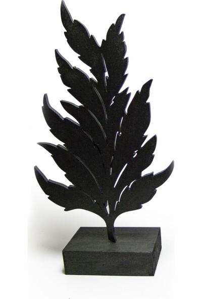 Halk Kitabevi Mistik Dekoratif Yaprak - Siyah HK206