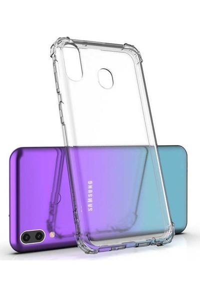 Redclick Samsung Galaxy A30 Kılıf Darbeye Dayanıklı Kenar Antishock Arka Kapak Şeffaf
