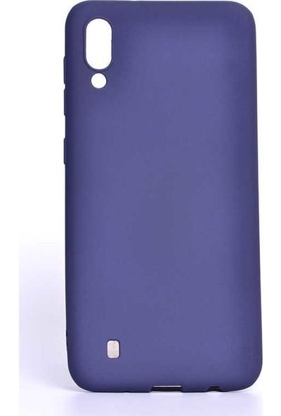 Redclick Samsung Galaxy M10 Mat Premium Silikon Kılıf Lacivert + Cam Ekran Koruyucu
