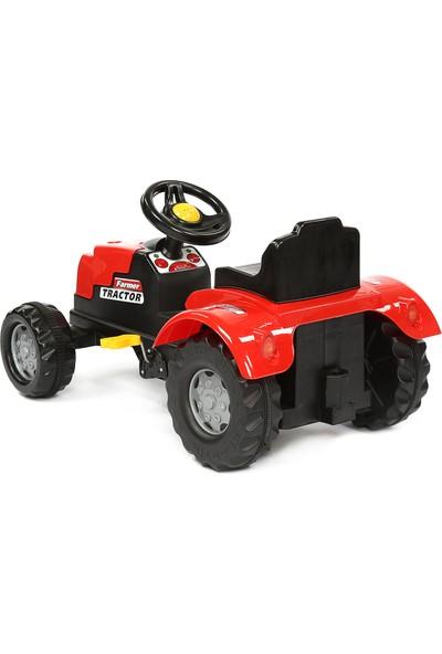 Şimşek Pedalli Traktör Kırmızı
