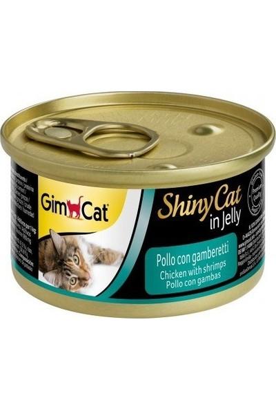Gimcat Shinycat 24'lü Tavuklu Karidesli Kedi Konservesi 70gr