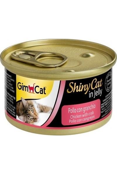 Gimcat Shinycat 24'lü Tavuklu yengeçli Kedi Konservesi 70gr
